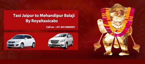 Taxi Jaipur To Mehandipur Balaji