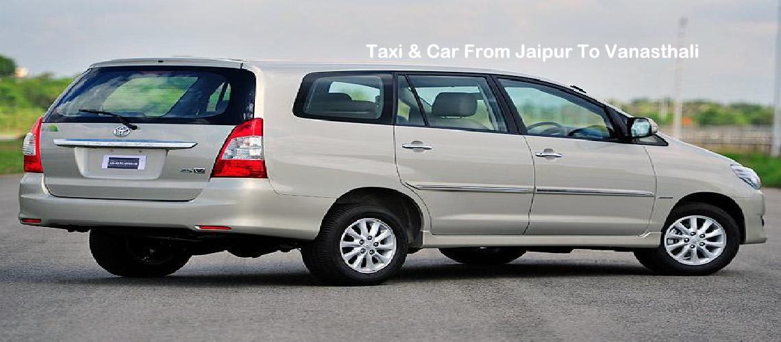 Taxi Jaipur To Vanasthali